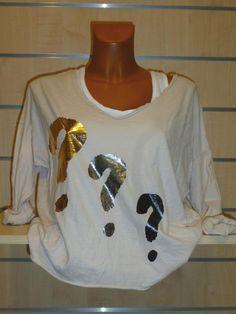 Tee-shirt beige Interro Carla Giannini