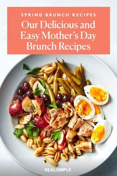 Mother's Day Luncheon | This Mother's Day, prepare your Mom a beautiful homemade lunch spread with one or a few of these spring brunch recipes. These classic brunch recipes are simple to make and prep ahead the night before. #mothersdayrecipes #realsimple #mothersdayideas #giftideas Grapefruit Salad, Green Veggies, Mothers Day Brunch, In Season Produce, Brunch Recipes, Lunch, Homemade, Dishes, Mom