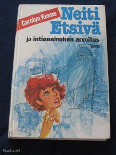 Neiti Etsivä. (Nancy Drew) Tämän näköisiä kirjat olivat, kun aloin niitä lukea joskus 80-luvun lopulla. #Nancy Drew