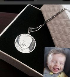 He must have a sweet dream,remember this moment on a necklace.