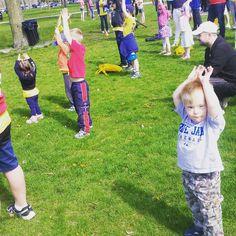 #yoga warmup before the #DSAT #buddywalk #LightningKid #SharkBoy #downsyndrome #fitkids #yoga warmup before the #DSAT #buddywalk #LightningKid #SharkBoy #downsyndrome #fitkids