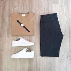 Outfits guideline pageMen Outfits guideline page Designer menswear is gaining more and more popularity with time and soon men will catch up with women both on. Look Fashion, Daily Fashion, Mens Fashion, Fashion Outfits, Fashion Menswear, Fashion 2016, Urban Fashion, Capsule Wardrobe, Men's Wardrobe