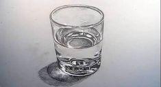 Dessin et peinture - vidéo 2328 : Comment dessiner un verre d'eau et la transparence des objets ?
