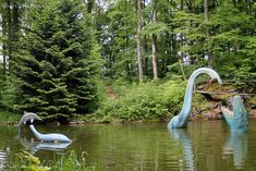 Abandoned Theme Parks, Abandoned Amusement Parks, Abandoned Places, Creepy, Scary, Plastic Dinosaurs, Loch Ness Monster, Amusement Park Rides, Jurassic Park World