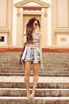 FashionCoolture - 25.09.2015 look du jour Lez a Lez gladiator sandals printed summer (1) .