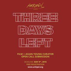 3 DAYS LEFT.  @ARKIPEL INTERNATIONAL DOCUMENTARY & EXPERIMENTAL FILM FESTIVAL online submission at www.arkipel.org  Free  #arkipel #grandillusion
