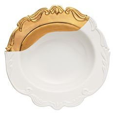 Bridget Parris by Magenta // Oh So Fountainbleu Dipped Gold Serving Bowl