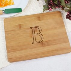 Personalized Engraved Monogrammed Bamboo Cheese Board