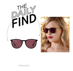 """""""Daily Find: Ray-Ban Erika"""" by polyvore-editorial ❤ liked on Polyvore featuring Ray-Ban and DailyFind"""