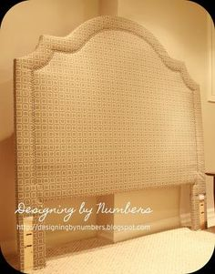 DIY Headboard Love the shape
