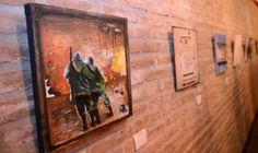 """Inauguraron la muestra """"Pintando con héroes"""" en la Agencia de Cultura de Tigre"""