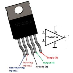The is an Audio Amplifier IC from ST Microelectronics with a maximum output power of commonly used in stereo amplification in car Radio. Hobby Electronics, Electronics Components, Electronics Projects, Electronic Circuit Projects, Electronic Parts, Audio Amplifier, Audio Speakers, Woofer Speaker, Audio Design