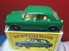 VINTAGE 1966 LESNEY MATCHBOX #64 MG 1100 W/DRIVER, DOG AND ORIGINAL BOX BOTH VNM #MatchboxLesney #Mg1100
