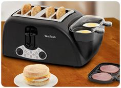 100 Coolest Tech Gadgets & Gifts Egg and muffin toaster!