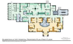Animal Health Care Projects — Jeffrey L. Hospital Floor Plan, Hospital Plans, Animal Shelter, Animal Rescue, Pet Health, Health Care, Veterinarian Career, Pet Clinic, Architecture Plan