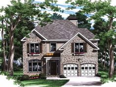 Colonial House Plan with 2004 Square Feet and 3 Bedrooms from Dream Home Source | House Plan Code DHSW32087