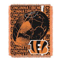 Cincinnati Bengals NFL Triple Woven Jacquard Throw (Double Play) (48x60)