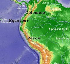 Map of the studied Andes