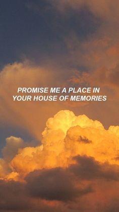 Prométeme un lugar en tu casa de recuerdos