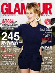 Cover | Glamour Brasil March 2013 | Mariana Ximenes by Robert Astley-Sparke