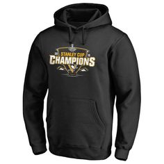 Men's Pittsburgh Penguins Black 2016 Stanley Cup Champions Big & Tall Pullover Hoodie