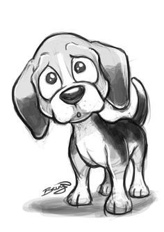 Beagle Cute Dog Sketches on Behance - Cartoon Sketches, Animal Sketches, Animal Drawings, Cute Drawings, Drawing Sketches, Dog Drawings, Sketching, Pencil Drawings, Cartoon Dog Drawing