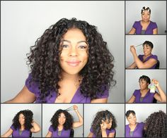 Curly hair wig step by step. How to blend curly wig with natural hair.   For more beauty trends, tips, and tricks subscribe to www.HairAndMakeupBlog.com.  Video: http://youtu.be/CZ36I84aMBc