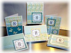 Monogram card set designed by Sheri Holt