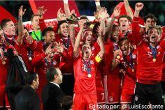 #MejoresImagenesDel2013   El Bayern Campeón del Mundial de Clubes.