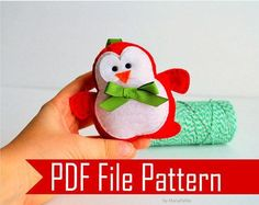 Items similar to Christmas Penguin Pattern, Penguin Christmas Ornament, Sewing Pattern Pdf Sewing Pattern on Etsy Penguin Ornaments, Baby Ornaments, Felt Christmas Ornaments, Christmas Crafts, Christmas Ideas, Christmas Owls, Christmas Patterns, Christmas Images, Christmas Decorations