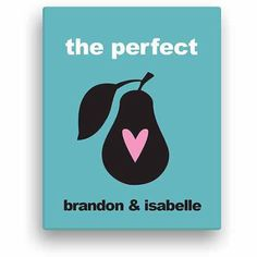 The Perfect Pair Personalized Canvas, Multicolor