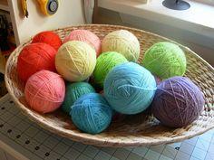 Kool aid dyed yarn