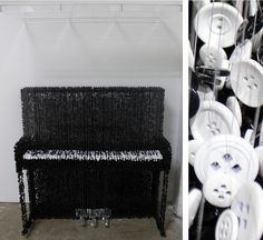 Amazing 3D Sculptures Made from Suspended Buttons by Augusto Esquivel http://designwrld.com/amazing-3d-sculptures-made-from-suspended-buttons-by-augusto-esquivel/