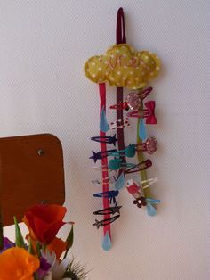 V.cute hair clips holder @ Les gribouillis d'Inès