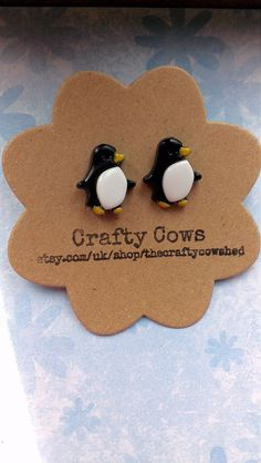 Hey, I found this really awesome Etsy listing at https://www.etsy.com/listing/199200197/penguin-earrings-quirky-kitsch-penguin