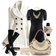 Cute winter outfit love love love the coat!!