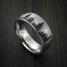 Cobalt Chrome Tree Hunter Ring Custom Made