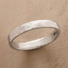 EVERYWEAR BAND -- A ring to wear any time, any place, with any outfit. Handmade in hammered, polished sterling silver. Whole and half sizes 5 to 10.