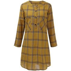 Casual Check Plaid A Line Pocket Vintage Long Sleeve  Dress ($16) ❤ liked on Polyvore featuring dresses, long sleeve a line dress, vintage dresses, long-sleeve maxi dresses, print dresses and vintage a line dresses