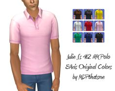Julie J 4t2 AM Polo Shirt  These are the rest of the original EAxis colors of this top. I wanted them for me, but decided to share.  You will need the converted mesh and other colors. FIND IT HERE