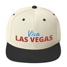 This hat is structured with a classic fit, flat brim, and full buckram. The adjustable snap closure makes it a comfortable, one-size-fits-most hat. Las Vegas, Hats For Sale, Snapback Hats, Business Women, Red And Blue, Camo, Wool, Student Fashion, River