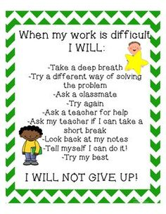 Perseverance Activities For Growth Mindset And Character Education Growth Mindset Classroom, Classroom Behavior, Classroom Management, Behavior Management, Classroom Ideas, Coping Skills, Social Skills, Conscious Discipline, Responsive Classroom
