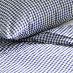 Gingham sheets for the bedroom.