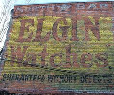 Elgin Watches Ghost Sign, Ballard Avenue, by Larry Myhre