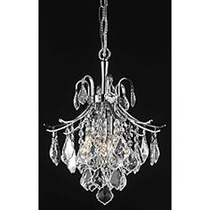 @Overstock - Illuminate your home or office with this unique chandelier. This lighting fixture features a chrome finish and crystal construction in an eye-catching arrangement.http://www.overstock.com/Home-Garden/Crystal-Chrome-3-light-64931-Collection-Chandelier/6082626/product.html?CID=214117 $146.99