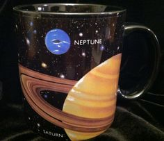Planetary coffee mugs for sipping hot cocoa while stargazing or for the morning after your Out of this World Date Night.