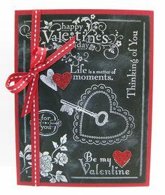 You are Loved, Elements of Style, Established Elegance, & Delightful Dozen SU stamp sets, Chalkboard Technique, Valentine, Love (by Barb Mann)