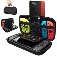 Orzly Carry Case Compatible With Nintendo Switch - BLACK Protective Hard Portable Travel Carry Case Shell Pouch for Nintendo Switch Console & Accessories. Designed specifically for the Nintendo Switch. Nintendo Ds, Console Nintendo, Nintendo Consoles, Xbox One, Ipod Touch, Console Style, Mochila Kanken, Nintendo Switch Case, Nintendo Switch Accessories