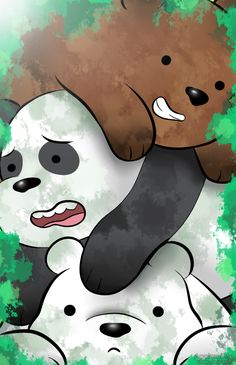 "We Bare Bears - Grizzly ""Grizz"", Panda, Ice Bear We Bare Bears Wallpapers, Panda Wallpapers, Cute Cartoon Wallpapers, Cute Disney Wallpaper, Cute Wallpaper Backgrounds, Wallpaper Iphone Cute, Ice Bear We Bare Bears, We Bear, Wallpaper Animes"