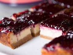 Blackberry Cheesecake Squares from The Pioneer Woman